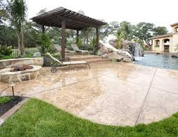 Brushed Concrete Patio Pergola And Patio Cover Pictures Gallery Landscaping Network