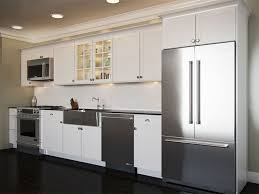 one wall kitchen with island designs one wall kitchen fromgentogen us