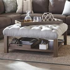 Upholstered Storage Ottoman Coffee Table Endearing Cocktail Storage Ottoman With Alcott Hill Nunnally