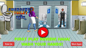 emergency toilet simulator 3d please wash your hands first play