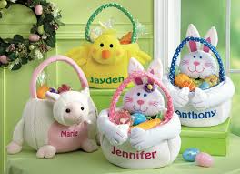 personalized easter bunnies personalized easter baskets ideas time for and easter egg hunt