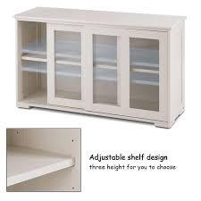 kitchen cabinet sliding doors shelving storage white buffet kitchen cupboard cabinet