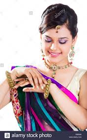 indian beautiful ladies traditional dress stock photo royalty