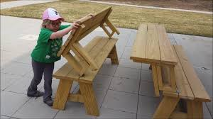 benches transform into picnic tables youtube