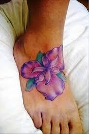 Big Flower Tattoos On - 70 iris flower tattoos