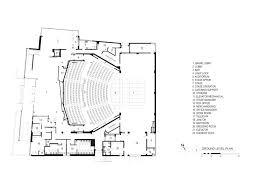floor plan theater gallery of topfer theatre at zach andersson wise architects 21