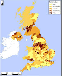 Seeking Uk Debt Map Of Britain Shows Areas Where Households Are Most Likely