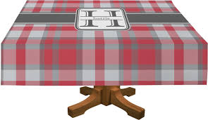 gray plaid rectangle tablecloth personalized youcustomizeit