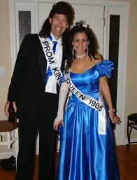 Halloween Prom Costumes Halloween Party 80 U0027s Prom King Queen Couples Costume Tacky