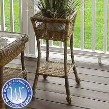 outdoor wicker plant stand wicker accessories