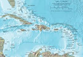 Maps Of Puerto Rico by Cia Map Of The Caribbean A Crescent Shaped Group Of Islands East