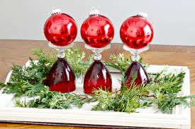 decor cheap christmas centerpieces with gold berries and glass