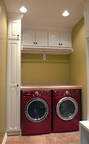 White Laundry Room Wall Cabinets Recessed Lighting In Laundry Room With Two Machine Also With