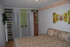Gardinen Schlafzimmer Braun Helle Schiebegardine Fürs Schlafzimmer Mit Zwei Unterschiedlichen