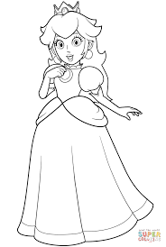 pretty princess peach coloring free printable coloring pages