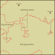 Kyrgyzstan Map A Map Of The Exclaves Of Uzbekistan And Tajikistan In Kyrg U2026 Flickr