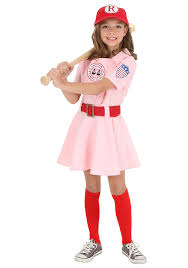 halloween costumes teens amazon com child a league of their own dottie costume clothing