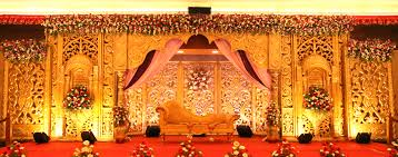 wedding ideas gold theme stage decoration for marriage