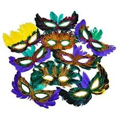 masquerade masks in bulk 50 fifty pack of mardi gras masquerade party feather