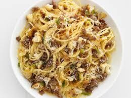 sausage cauliflower spaghetti recipe food network kitchen food