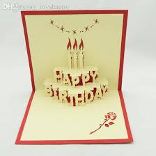 wholesale birthday cake pop up card 3d kirigami birthday card