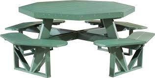 Hexagon Wood Picnic Table Plans by Exteriors Park Picnic Tables Resin Picnic Table 8 Sided Picnic