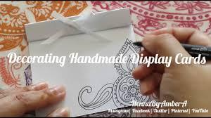 how to henna handmade display cards by hennabyambera youtube