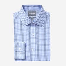 daily grind wrinkle free dress shirt blue birch tattersall by