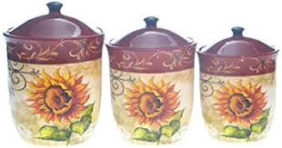 sunflower kitchen canisters certified international tuscan sunflower canister set