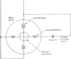 component capacitor start run induction motor patent us4792740