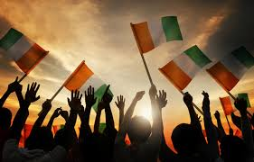 Flag Of Ireland Silhouettes Of People Holding Flag Of Ireland A Mission For Michael
