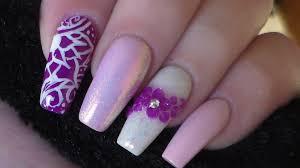 acrylic nails new design youtube