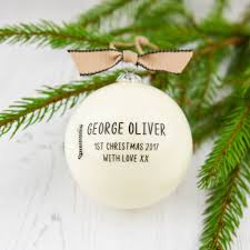baby first christmas bauble