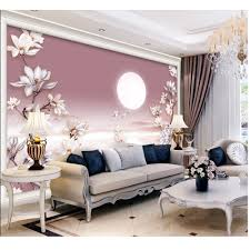 compare prices on wall adhesive paper online shopping buy low picture in picture 3d custom mural diy wallpaper walls bedroom living room tv background moon floral