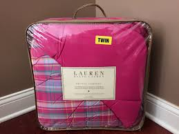 Pink Down Comforter Twin Ralph Lauren Madras Plaid Pink Reversible Twin Comforter