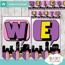Batman Baby Shower Decorations 50 Best Superhero Baby Shower Printables Images On Pinterest