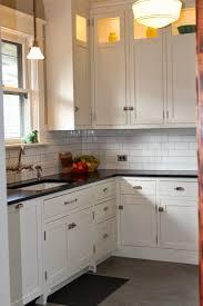 1920 kitchen cabinets kitchen 1920s bungalow remodel tile backsplash porcelain sink