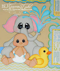 blj graves studio boy baby shower scrapbook pages