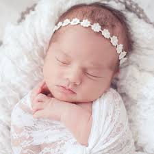 baby headbands uk ivory satin flower with diamanté headband childrensalon