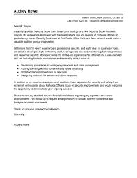 best security supervisor cover letter examples livecareer retail