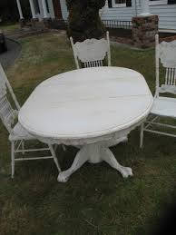Distressed White Table Distressed Dining Set Ladybird U0027s Vintage