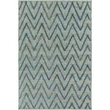 Teal Chevron Area Rug 4 X 6 Chevron Outdoor Rugs Rugs The Home Depot