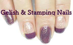 imagenes de uñas decoradas con konad gelish stamping nail konad diseño de uñas morado y dorado