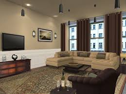 Modern Living Room Ceiling Lights Living Room Paint Ideas Wooden Nightstand Sofa Chairs Brown