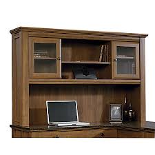 sauder appleton collection hutch for l desk sand pear by office