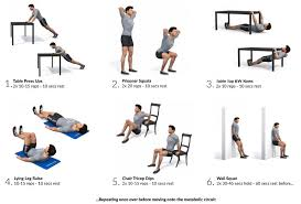 Exercise At The Office Desk Fitness Personal
