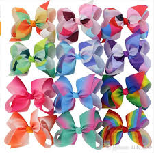 diy baby hair bows hot rainbow jojo bows for mix colors hair bows for children