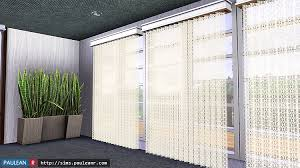 April Blinds My Sims 3 Blog Lace Net Vertical Blinds By Pauleanr