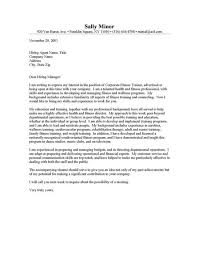 fitness consultant cover letter