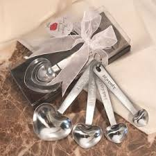 wedding favors unlimited silver measuring spoons wedding favors